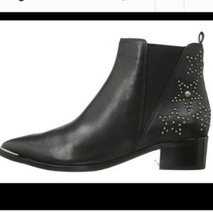 Marc Fisher Star Studded Black Booties